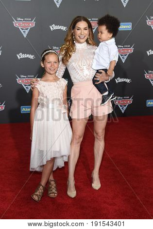 LOS ANGELES - JUN 10:  Allison Holker, Weslie Fowler and Maddox Boss arrives for the