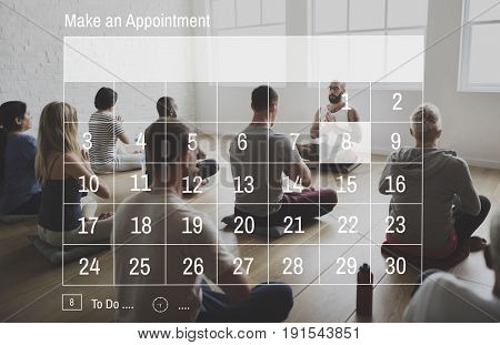 Calendar Agenda Appointment Banner Graphic