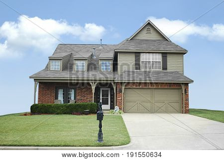 Big Suburban Home Exterior in Tulsa Oklahoma