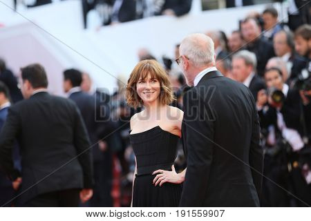 Pascal Greggory, Marie Josee Croze attend the 'Based On A True Story' screening during the 70th annual Cannes Film Festival at Palais des Festivals on May 27, 2017 in Cannes, France.