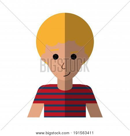 portrait happy man with afro  icon image vector illustration design