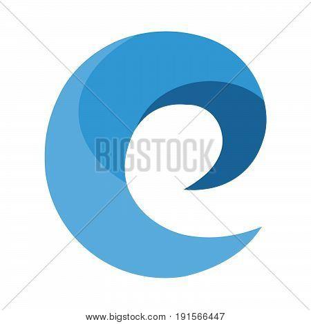 E letter initial vector logo design template.