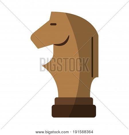 knight chess piece icon image vector illustration design
