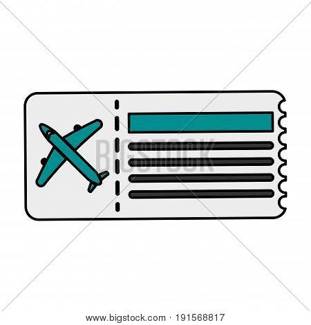 boarding pass icon image vector illustration design