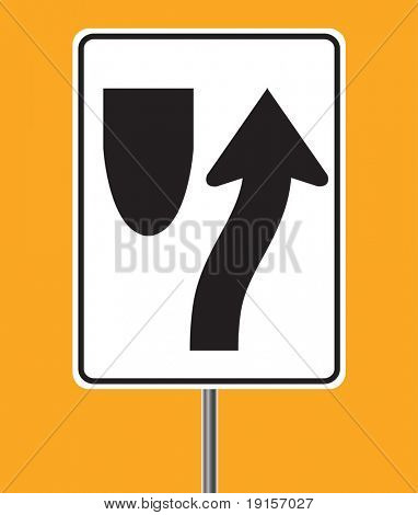 Keep right traffic sign -VECTOR