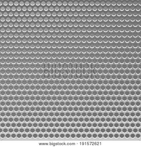 Perforated Metal Template. Translucent Grid Background. Vector Illustration.
