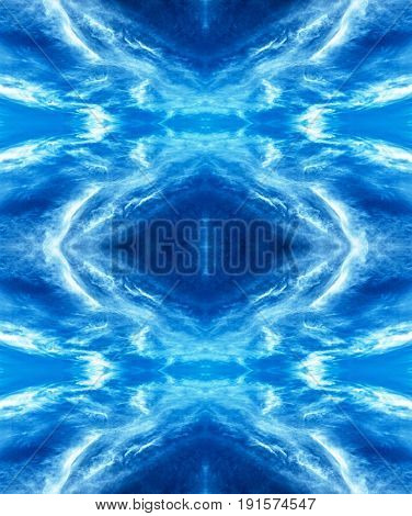 Mirror pattern. Fantasy inspirational digitally altered surreal/abstract/fantasy photo art.