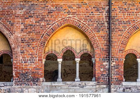 Doors and windows of Riga Old Town During sunset time.