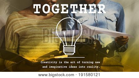 Friendship Togetherness Society Word Graphic Light Bulb