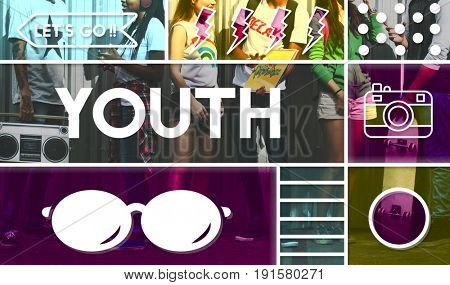 Youth Carefree Yolo Live Your Life Lifestyle poster