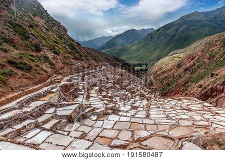 Artisan Salt mine in Cusco in  Peru