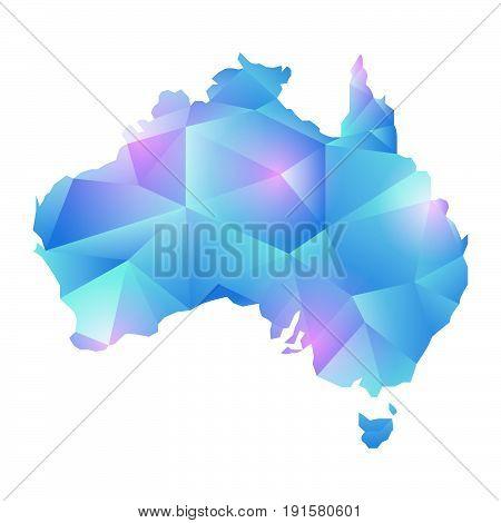 map of australia map concept vector polygon