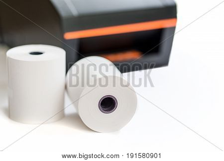 Office equipment A point of sale receipt printer printing a receipt poster