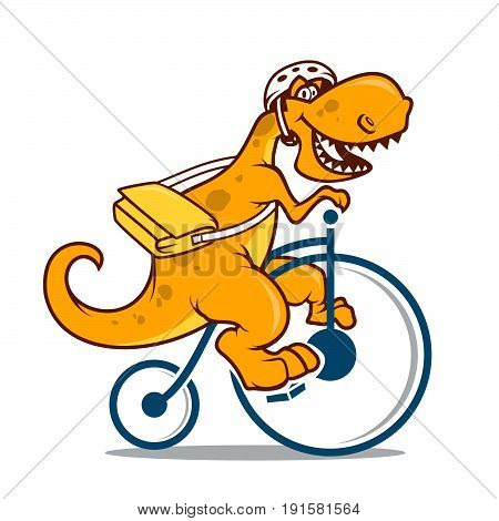 Dinosaur cartoon vector illustration seamless patern . Cartoon dinosaurs cute monster funny animal and prehistoric character cartoon dinosaur. Cartoon comic fantasy dinosaur reptile