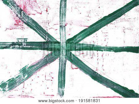 Hand-drawn abstract watercolor. Used colors: White Snow Dark slate gray Deep aquamarine Wintergreen Dream Hookers green Brunswick green Amazon Baby powder