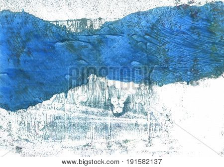 Hand-drawn abstract watercolor background. Used colors: White Lapis lazuli Steel blue Cyan-blue azure Tufts Blue Metallic blue Queen blue Ghost white Celestial blue