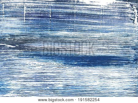 Hand-drawn abstract watercolor background. Used colors: White Metallic blue UCLA Blue Blue yonder Glaucous Air Force blue Alice blue Shadow blue Azureish white