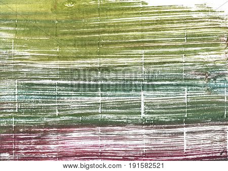Hand-drawn abstract watercolor background. Used colors: White Moss green Old moss green Axolotl Camouflage green Mustard green Artichoke Rifle green Middle Green Yellow
