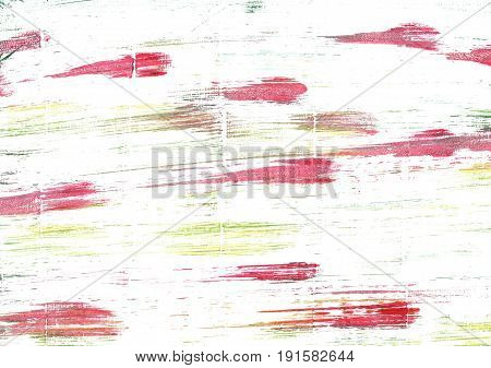 Hand-drawn abstract watercolor background. Used colors: White Baby powder Lotion Milk Ivory Snow Mint cream Ghost white Light yellow Mauvelous Pale red-violet