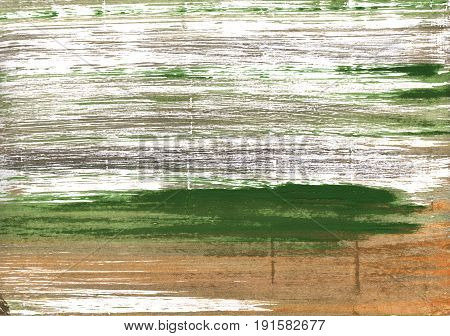 Hand-drawn abstract watercolor background. Used colors: White Moss green Grullo Dark moss green Bronze Artichoke Dark olive green Baby powder Cal Poly green poster