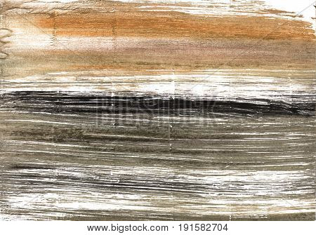Hand-drawn abstract watercolor background. Used colors: Shadow White Wenge Umber Grullo Pastel brown Cinereous Dark vanilla Pale taupe Lotion Light taupe