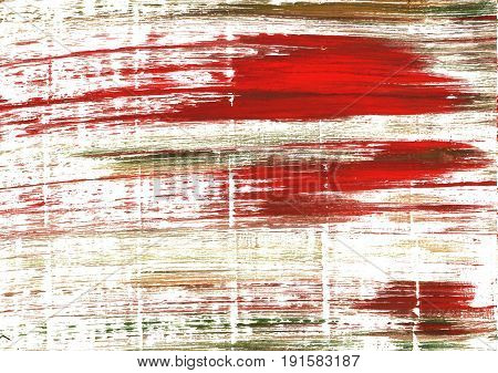 Hand-drawn abstract watercolor background. Used colors: White International orange Snow Baby powder Floral white Maximum Red Lotion Carnelian Milk Firebrick