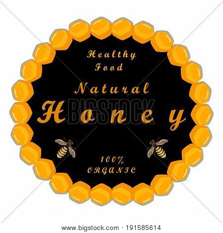 The vector shows beehive honey nectar hive swarm winged bee honeycomb wax,private apiary beekeeper beeswax.