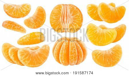 Isolated Citrus Segments