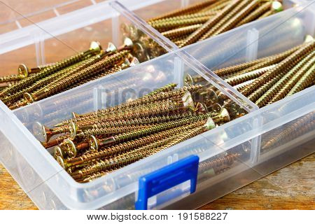 Long Self-tapping Screws In The Storage Box On The Workbench