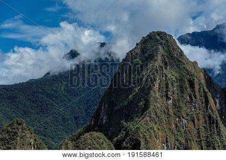 Mountains Andes near Machu Picchu in Peru