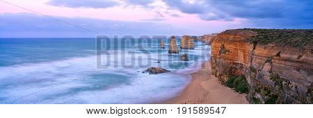 The twelve Apostles along the famous Great Ocean Road in Victoria, Australia