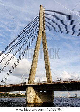 Tower. Radar. Bridge