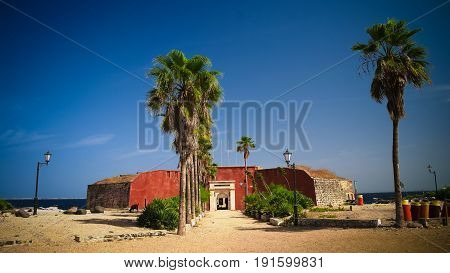 Slavery fortress on Goree island at Dakar Senegal