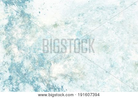 Abstract Marble Texture. Fractal Background In Faded Blue Colors. Fantasy Digital Art. 3D Rendering.