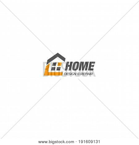 Isolated real estate agency business logo, house logotype on white background, home concept icon, hotel vector illustration