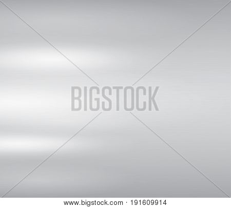Vector illustration of grey metal, stainless steel texture background with reflection light