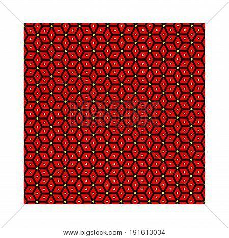Slavic god Perun - red pattern , symbols of Perun - vector