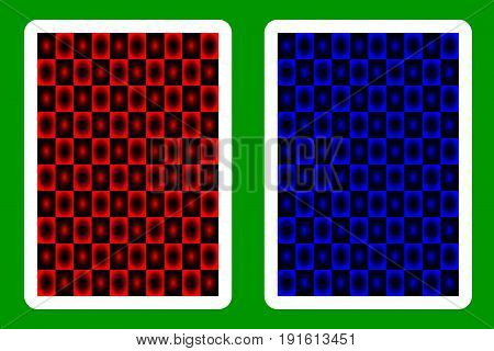 Playing Card Back Designs, Blue and red playing card back