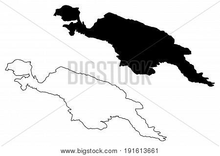 new guinea map vector illustration , scribble sketch new guinea