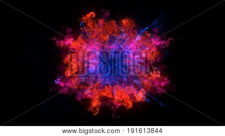 Abstract Background With Shockwave Explosion On Black Backdrop