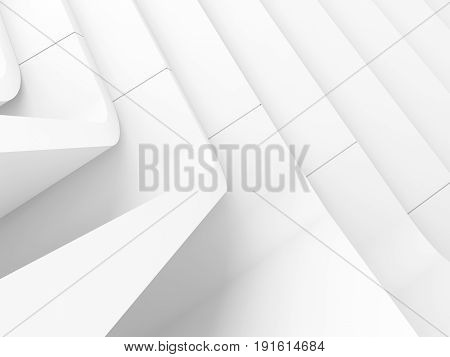 White Abstract Modern Architecture, 3D Art