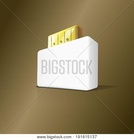 3d stylish USB box flash drive. Vector Illustration design