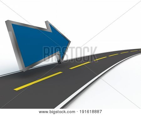 road to success concept  . 3d rendered illustration