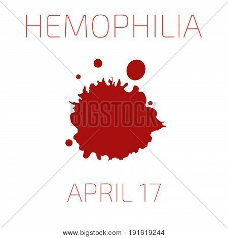 Hemophilia day, April 17, symbol. Vector illustration