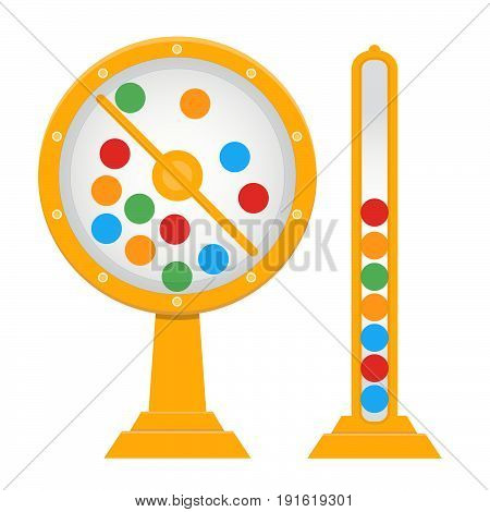 Lotto drum, lottery, bingo,game, risk, luck.Vector illustration