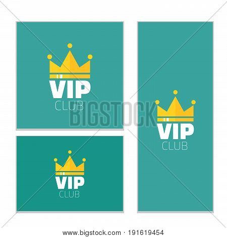 VIP club logo banner. VIP Club members only banner. Diadem vector