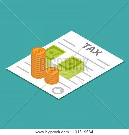tax refund icon, business, financial. Vector illustration