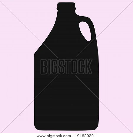 Motor oil gas can vector silhouette isolated on background