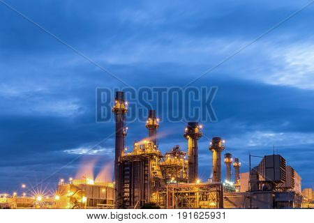 Gas turbine electric power plant with light night
