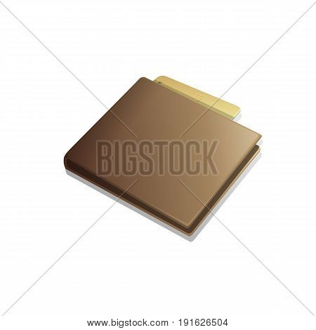 Leather wallet with blue credit card and green dollar. Vector illustration eps 10. Brown wallet with money isolated with shadow.
